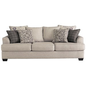 Relaxed Vintage Queen Sofa Sleeper with Memory Foam Mattress