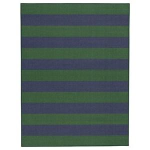 Prentiss Navy/Green Medium Rug