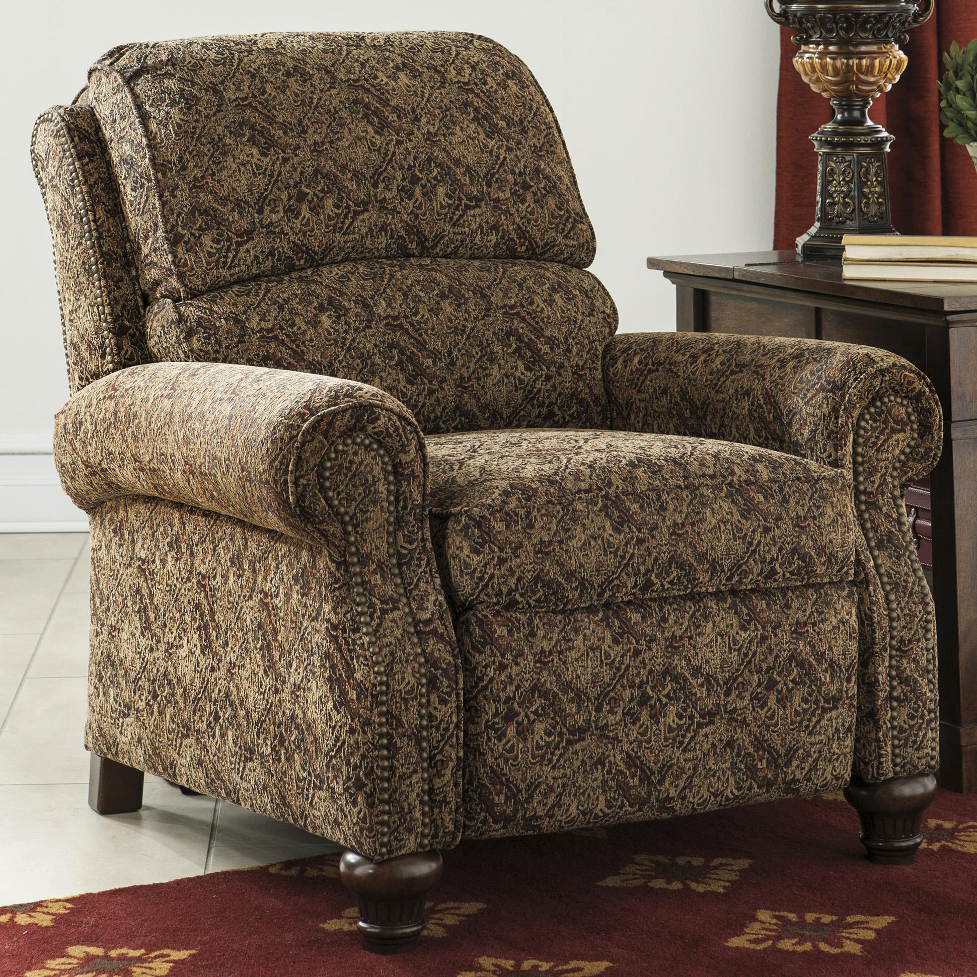 Transitional Style Push Back Low Leg Recliner by Signature Design