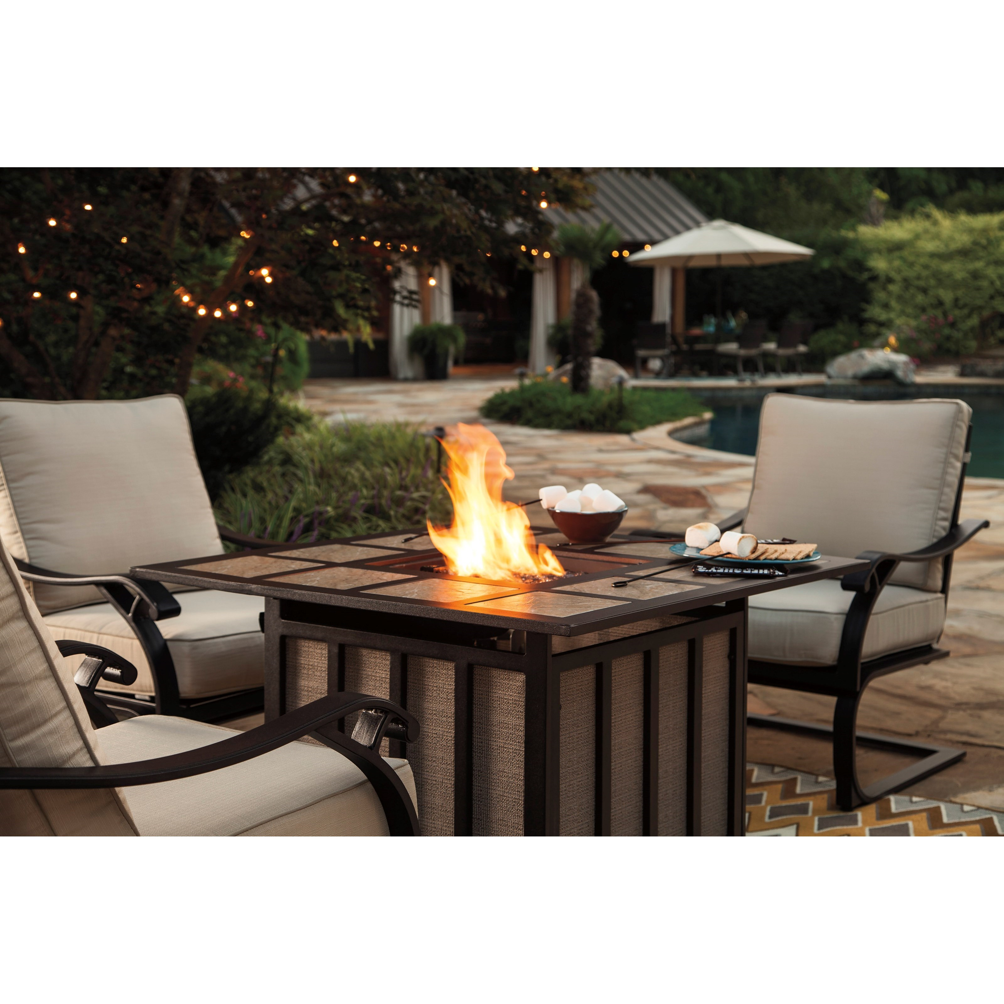 Square Fire PitWyndham Pit Chat Set Created