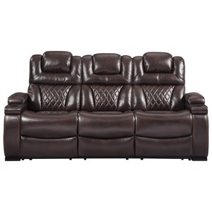 Power Reclining Sofa with Adjustable Headrests