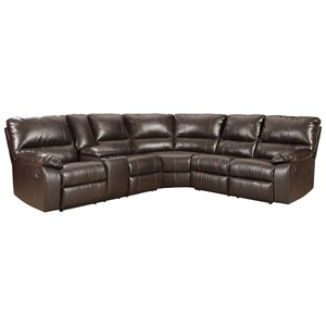 Casual 3 Piece Reclining Sectional