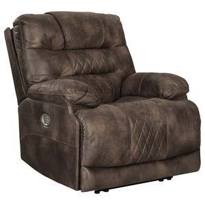 Power Recliner with Adjustable Headrest and USB Port
