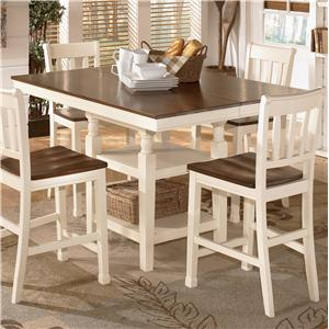 Signature Design by Ashley Whitesburg Square Dining Room Counter Ext Table
