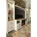 Entertainment Center with Fireplace Insert