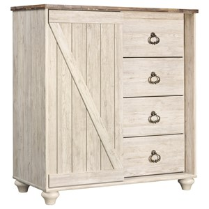 Dressing Chest with Rustic Look Top