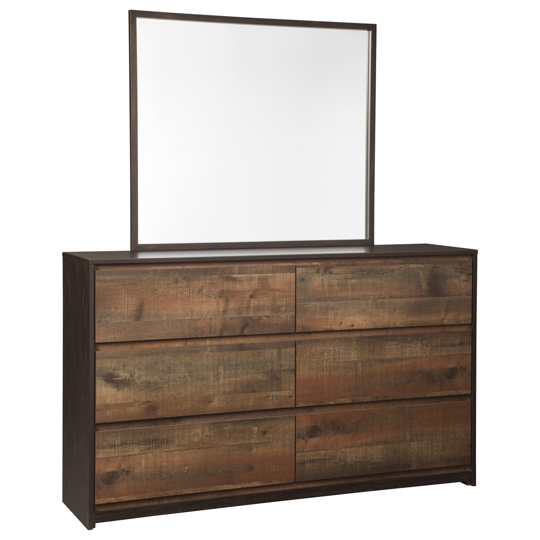 Modern Rustic Dresser & Bedroom Mirror By Signature Design