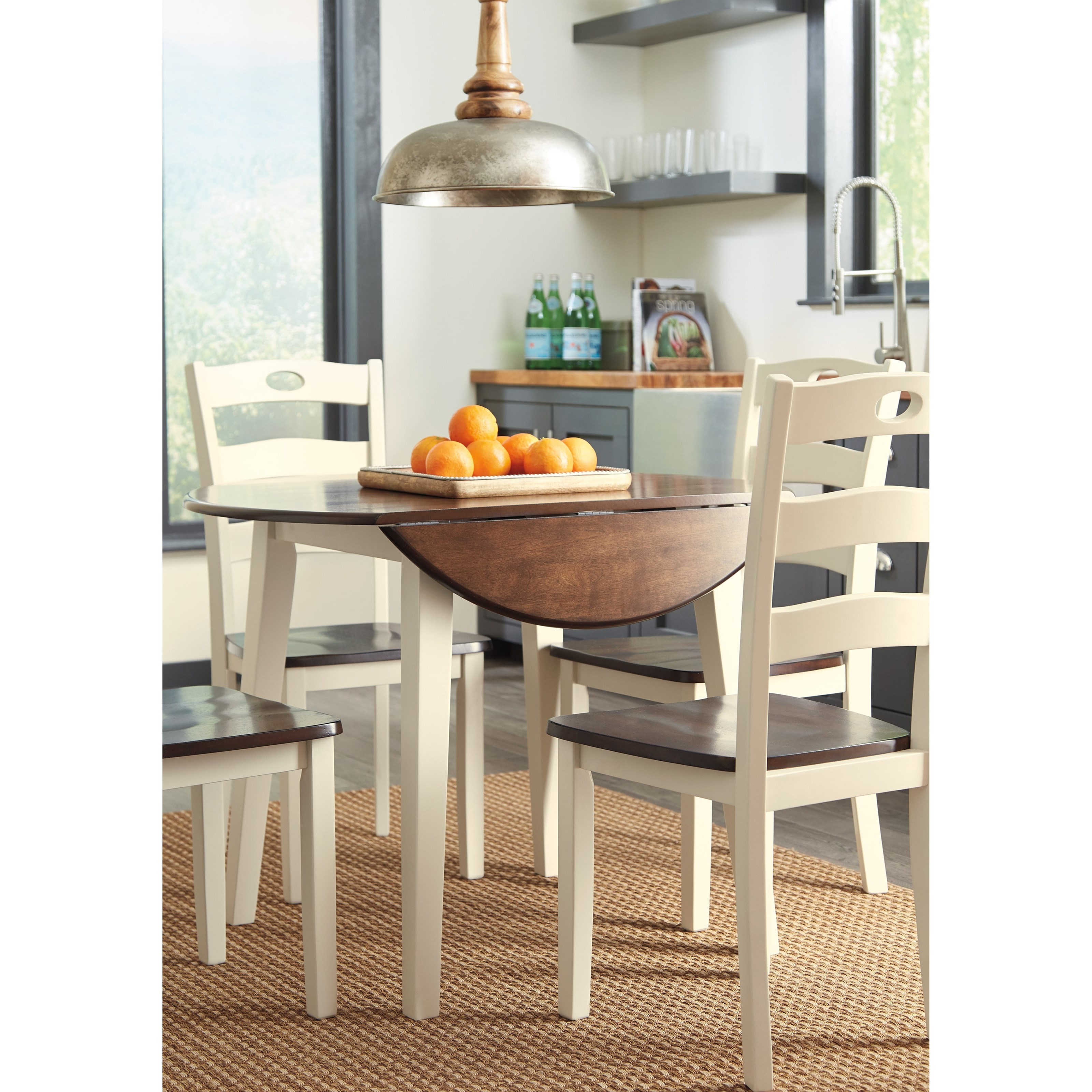 5 Piece Round Drop Leaf Table Set By Signature Design By Ashley