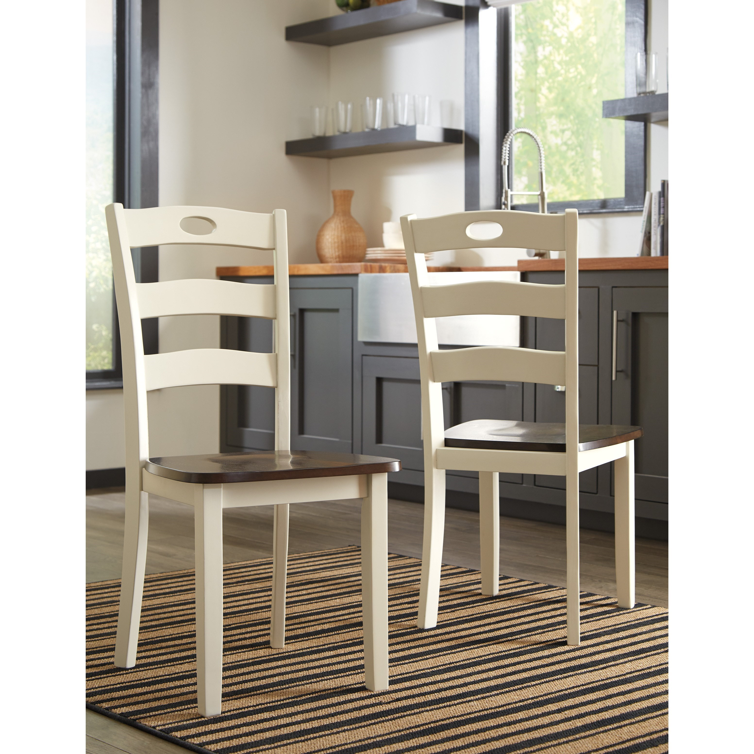 Ashley Furniture Danville Va: Two-Tone Finish 7-Piece Dining Room Table Set By Signature