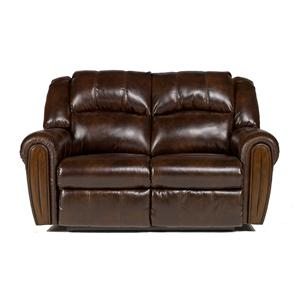 Signature Design by Ashley Furniture Woodsdale DuraBlend® - Antique Reclining Loveseat