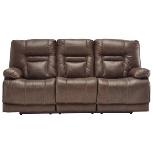 Power Reclining Sofa with Adjustable Head Rest and USB Port