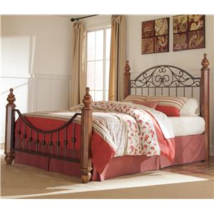 Signature Design by Ashley Furniture Wyatt King Octagon Poster Bed