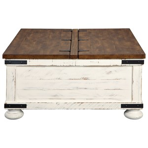 Farmhouse Cocktail Table with Storage