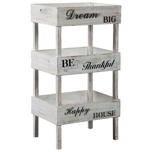 Cottage Storage Shelf with Decorative Inspirational Sayings