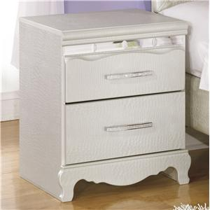 Signature Design by Ashley Zarollina Two Drawer Night Stand