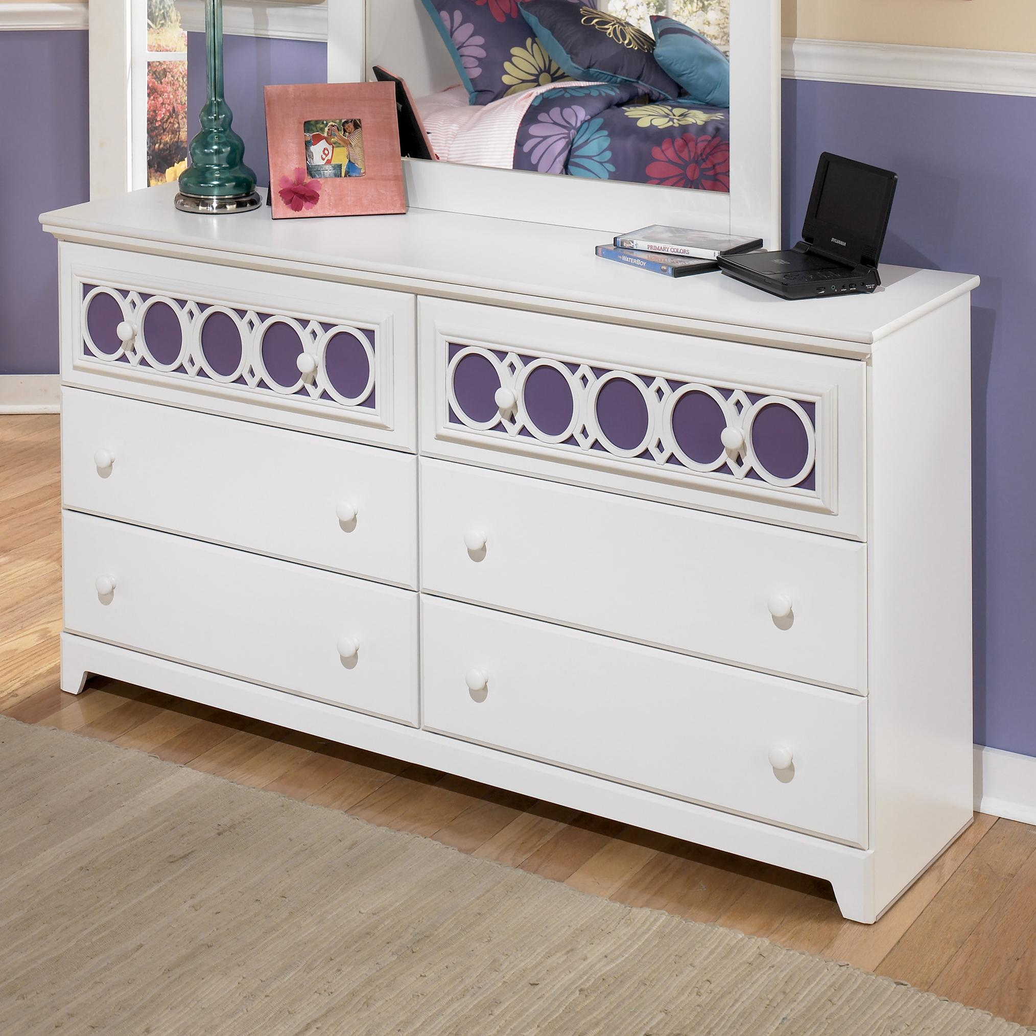 6 Drawer Dresser With Customizable Color Panels By