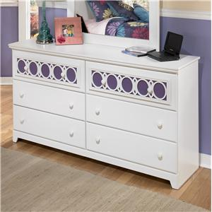 6-Drawer Dresser with Customizable Color Panels