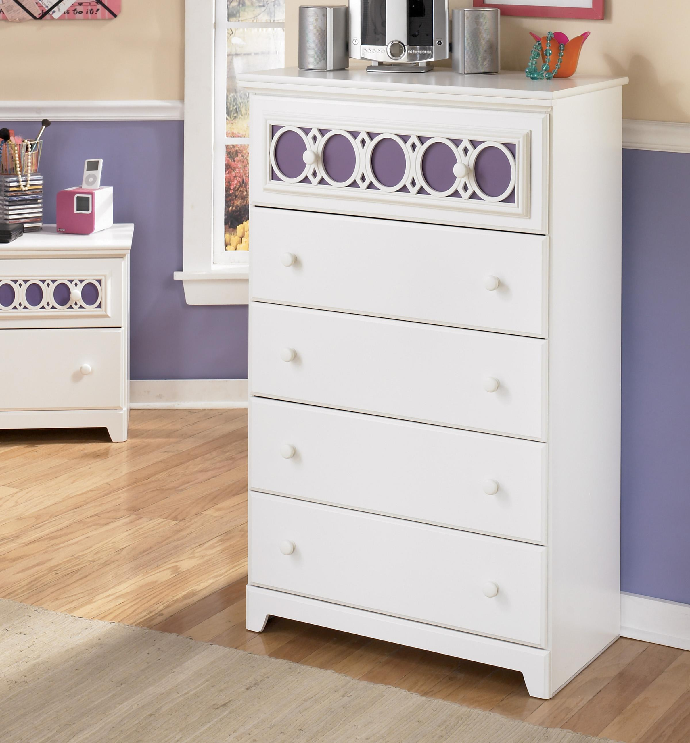5-Drawer Chest with Customizable Color Panel
