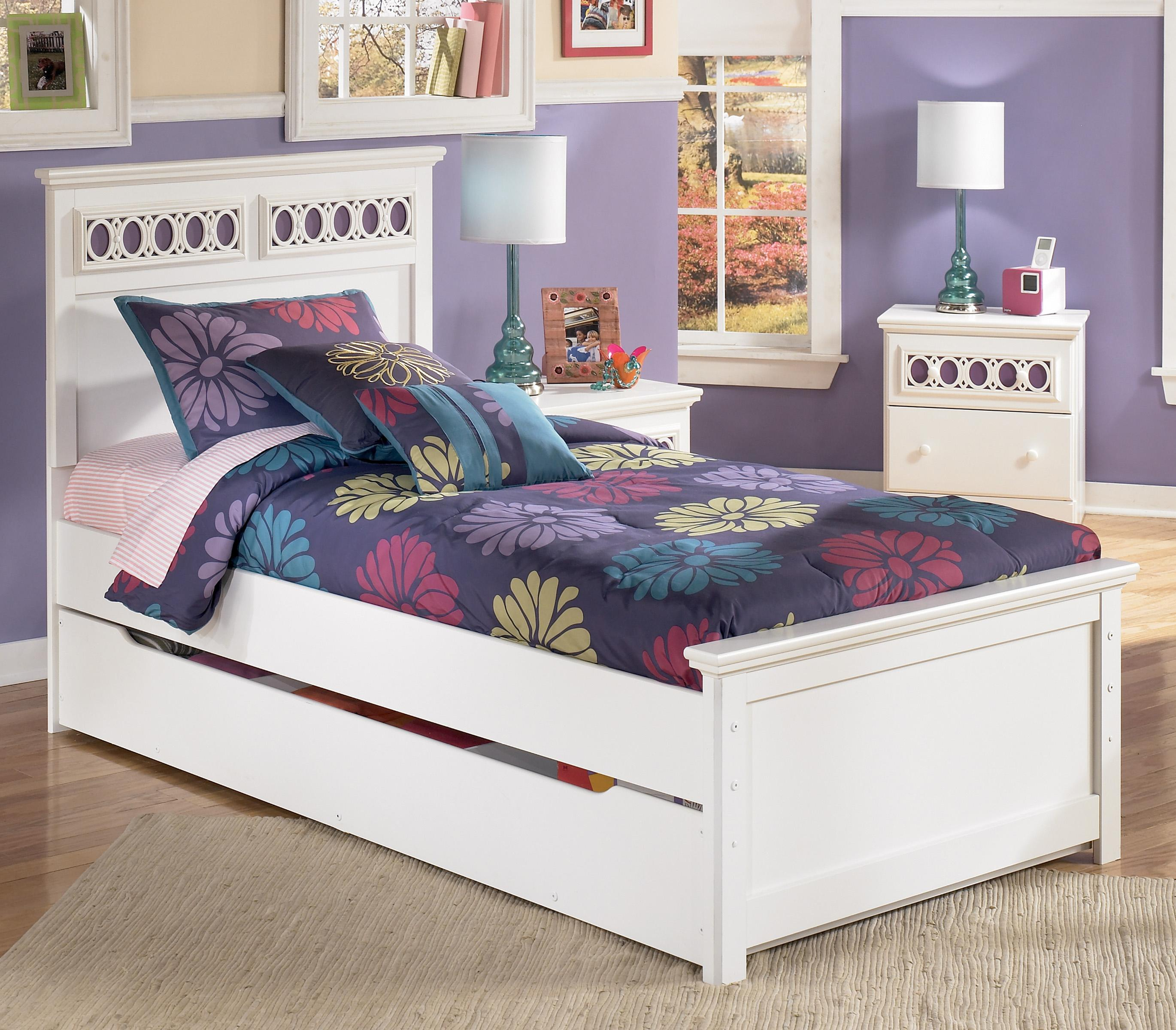 Twin Platform Bed with Trundle Storage Box Customizable Color
