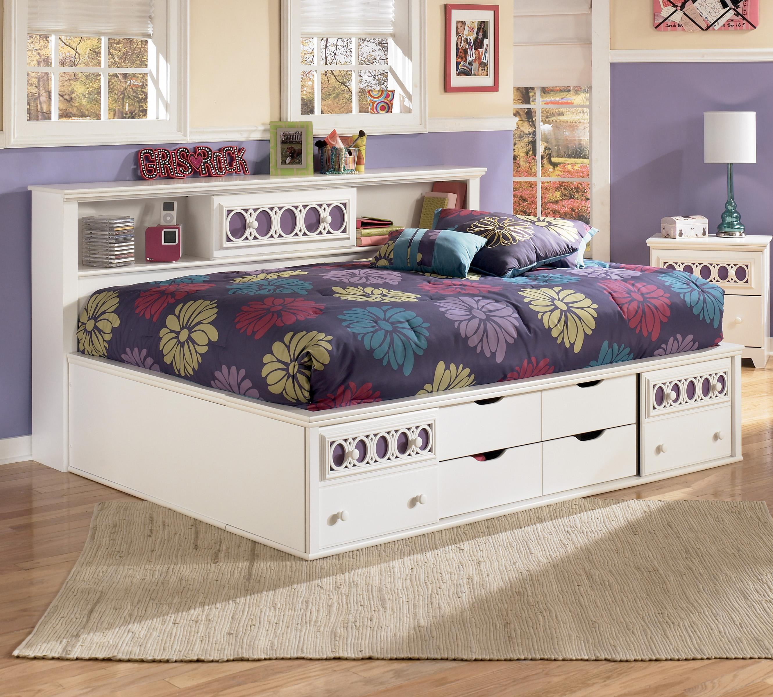 Full Bedside Bookcase Daybed with Customizable Color Panels by ...