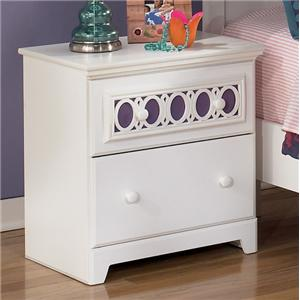 2-Drawer Nightstand with Customizable Color Panel