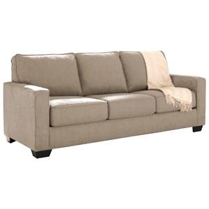 Queen Sofa Sleeper with Memory Foam Mattress