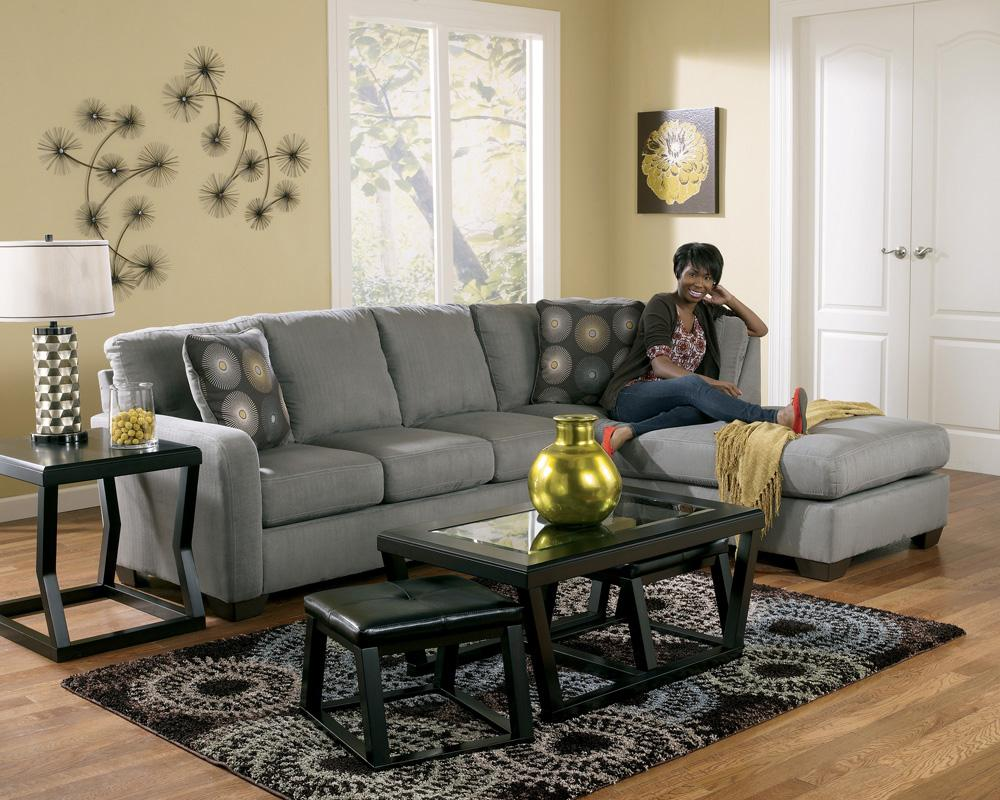 Contemporary sectional sofa with right arm facing chaise for Ashley sofa with chaise