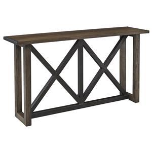 Wood/Metal Sofa Table