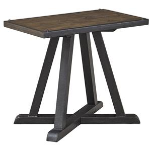 Wood/Metal Chair Side End Table