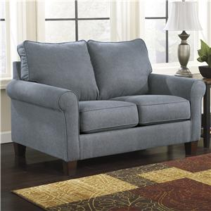 Signature Design by Ashley Furniture Zeth - Denim Twin Sofa Sleeper