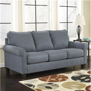 Signature Design by Ashley Zeth - Denim Queen Sofa Sleeper