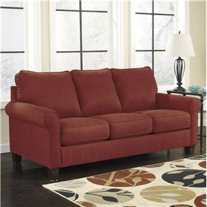 Signature Design by Ashley Zeth - Crimson Full Sofa Sleeper