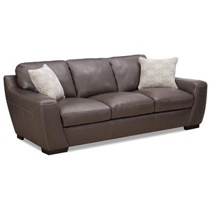 Simon Li 6948 Stationary Leather Sofa