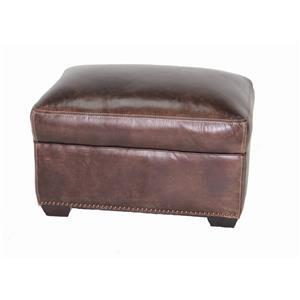 Simon Li J390 Leather Ottoman