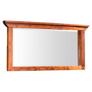 Simply Amish B and O Railroad Medium Bureau Mirror