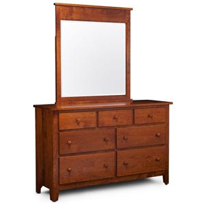 Simply Amish Express Shenandoah Express Dresser and Mirror