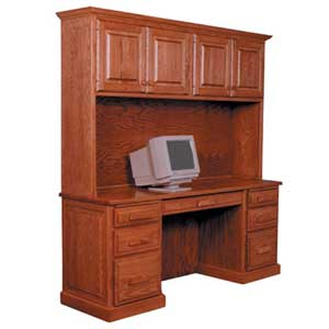 Simply Amish Classic Computer Credenza