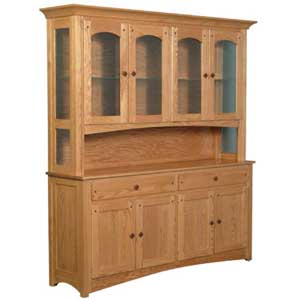 Simply Amish Royal Mission Open Hutch with 4 Arch Doors