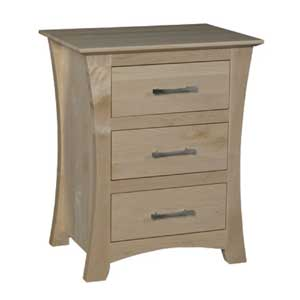 Simply Amish Loft Bedside Chest