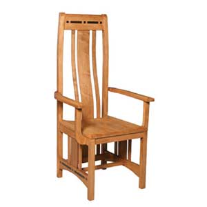 Simply Amish Aspen Wood Seat Aspen Arm Chair