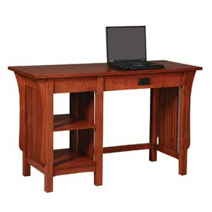 Simply Amish Prairie Mission 2-Shelf Writing Table