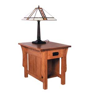 Simply Amish Prairie Mission Drawer End Table