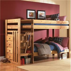 Simply Bunk Beds 7989 Stair Bunk Bed