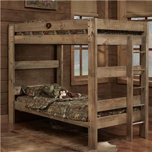 Simply Bunk Beds Mossy Oak Twin Bunk Bed