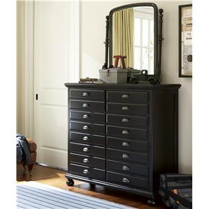Universal Kids Smartstuff Black and White Dresser and Mirror Combo