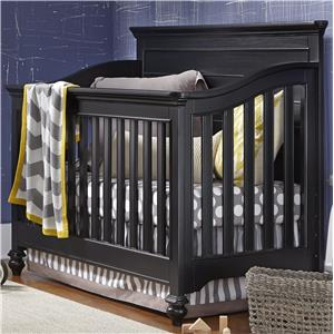 Smartstuff Black and White Convertible Crib