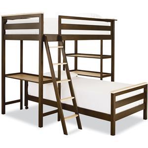 Smartstuff #myRoom Twin Metal Loft Bunk Bed