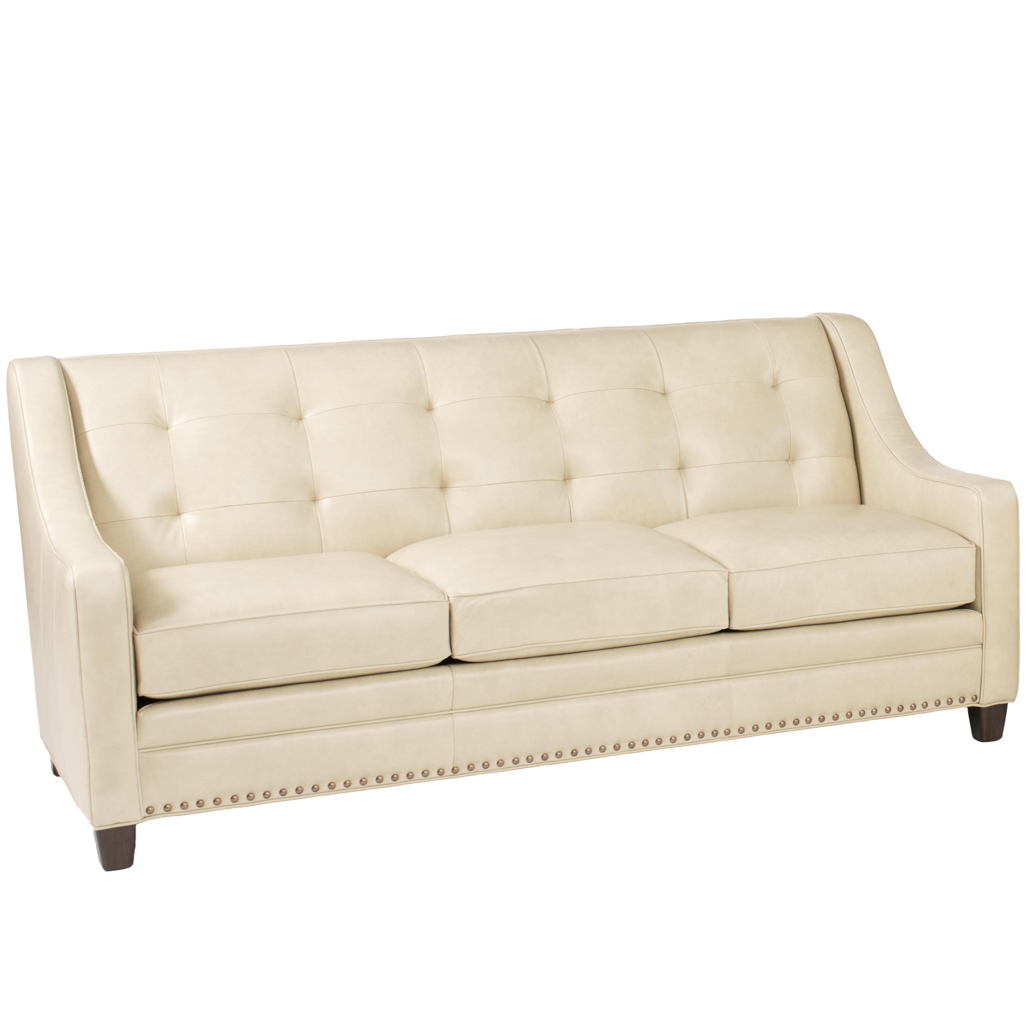 Paris Transitional Tufted White Leather Sectional Sofa: Transitional Sofa With Tufting By Smith Brothers