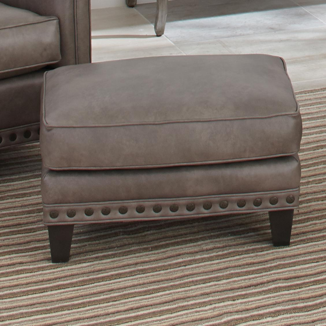 Upholstered Ottoman With Nail Head Trim By Smith Brothers