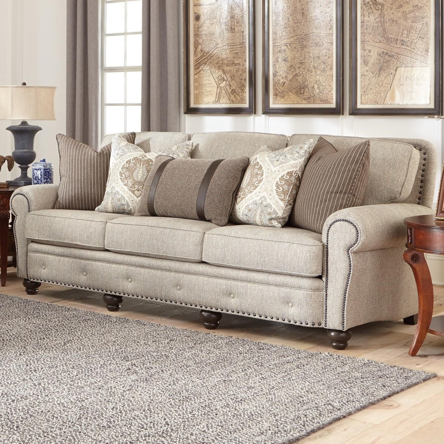 Ordinaire Traditional Large Sofa With Nailhead Trim